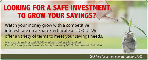 Share Certificate at JDECU.